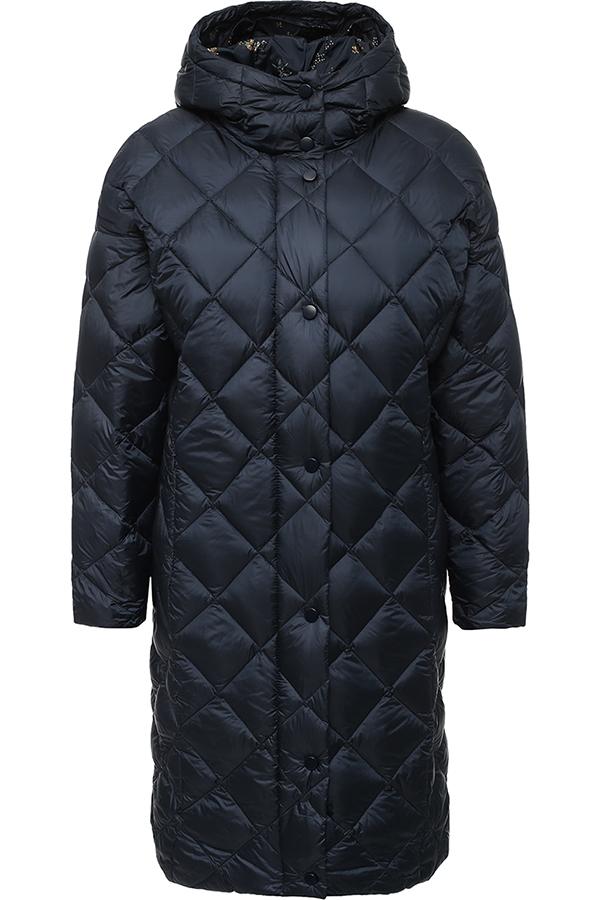 Фото 9 - Пальто женское серо-сиреневого цвета