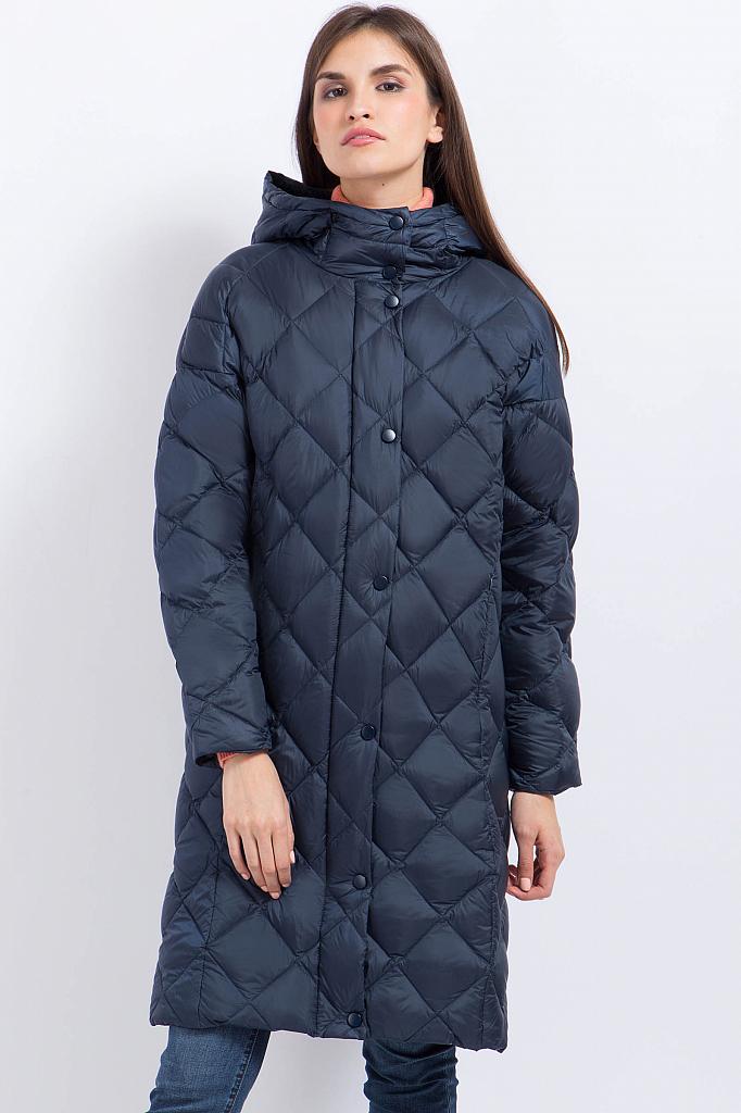 Фото 10 - Пальто женское серо-сиреневого цвета