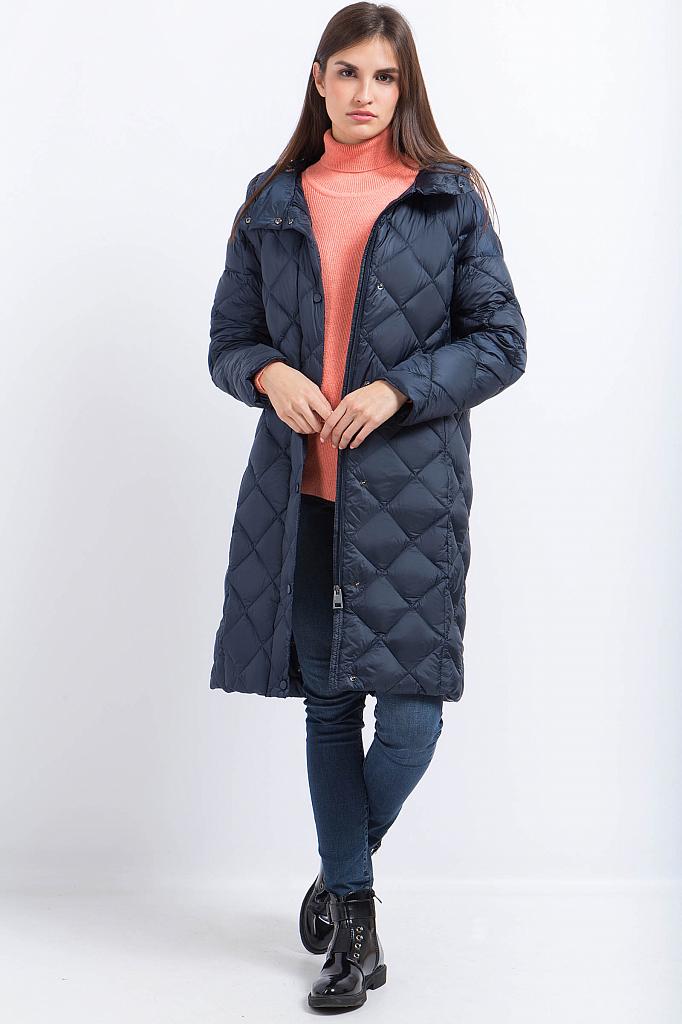 Фото 11 - Пальто женское серо-сиреневого цвета