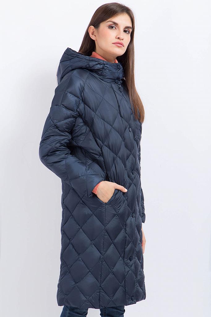 Фото 12 - Пальто женское серо-сиреневого цвета