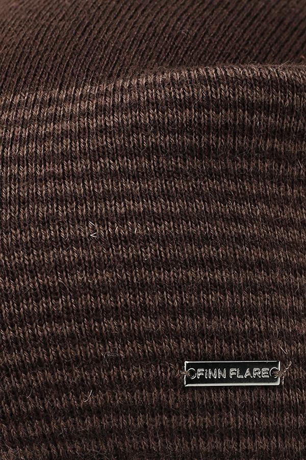 Фото 16 - Шапку мужская темно-коричневого цвета