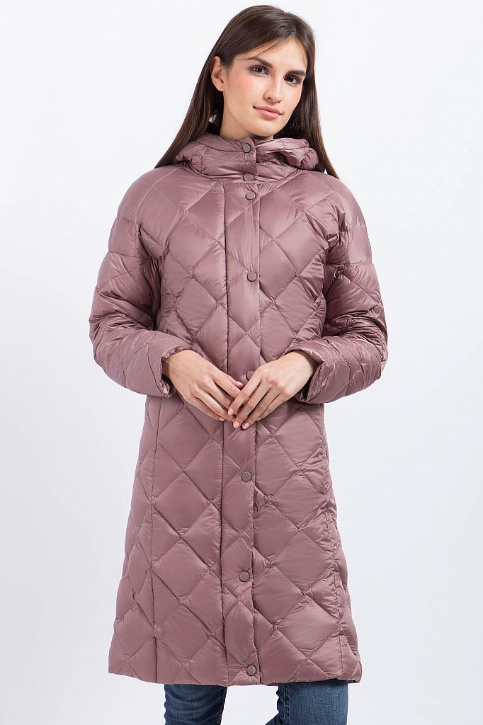 Фото 6 - Пальто женское серо-сиреневого цвета