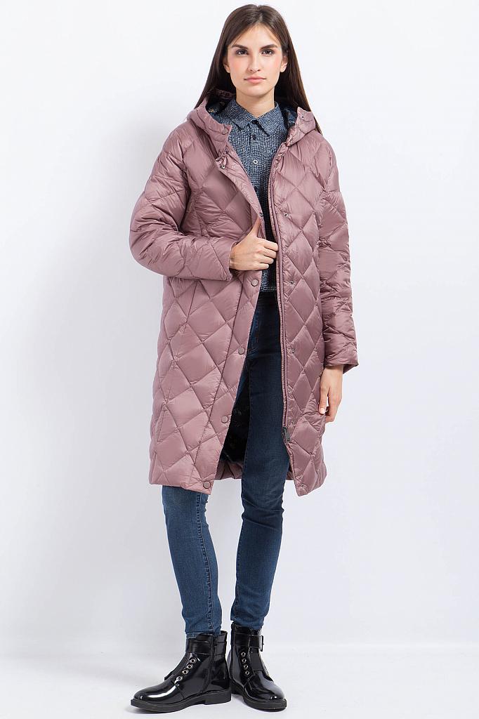 Фото 7 - Пальто женское серо-сиреневого цвета