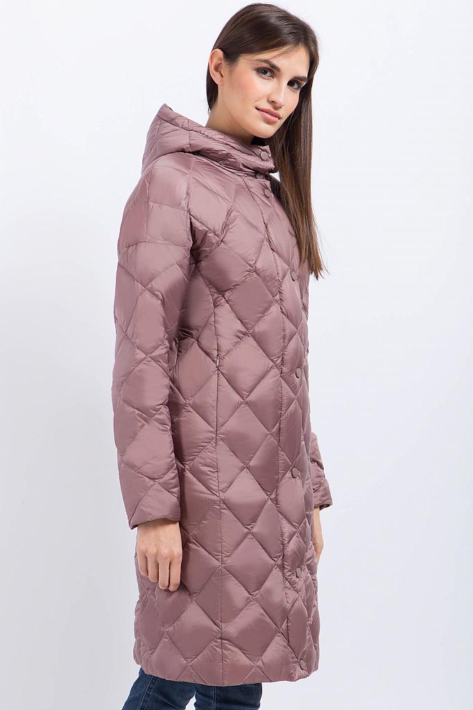 Фото 8 - Пальто женское серо-сиреневого цвета