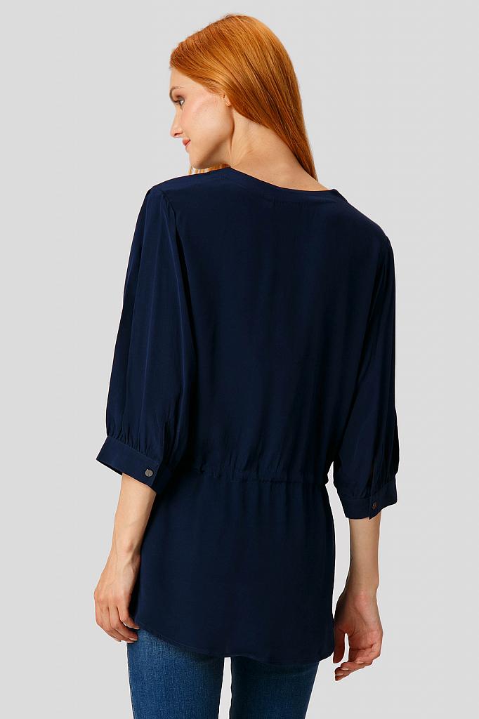 Фото 4 - Блузку женская темно-синего цвета