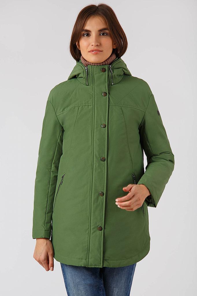 Фото 9 - Куртку женская цвет бежево-желудевый