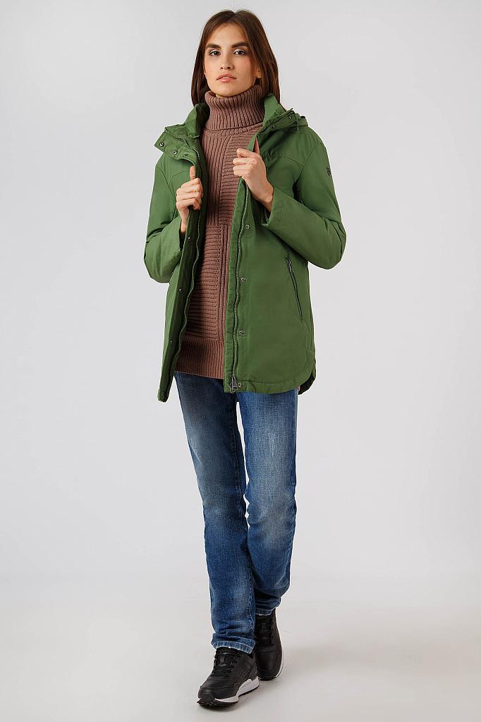 Фото 10 - Куртку женская цвет бежево-желудевый