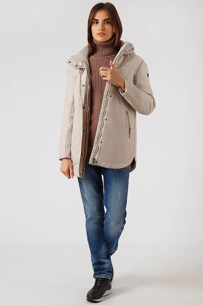 Фото 14 - Куртку женская цвет бежево-желудевый