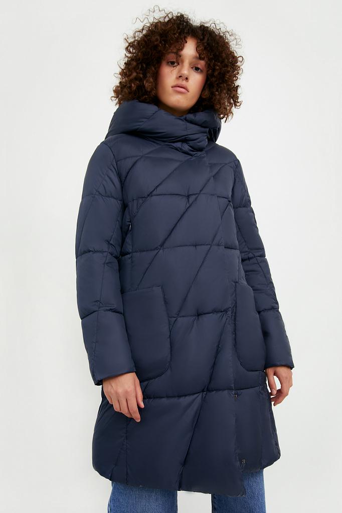 Фото - Пальто женское темно-синего цвета