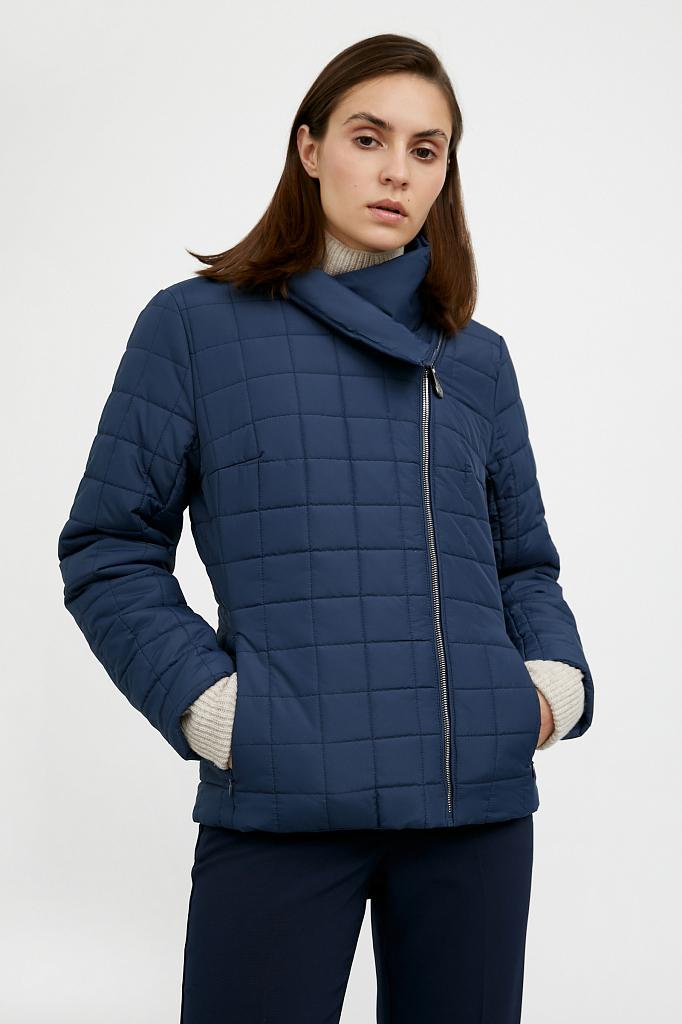 Фото 9 - Куртку женская темно-синего цвета