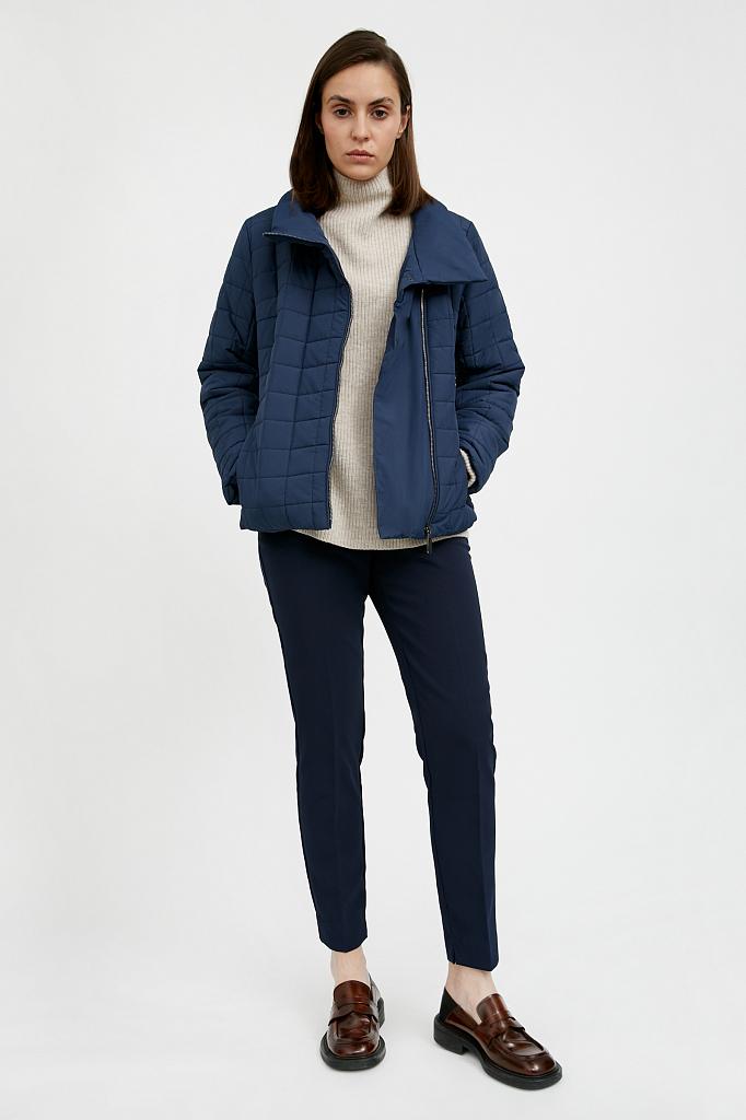 Фото 10 - Куртку женская темно-синего цвета