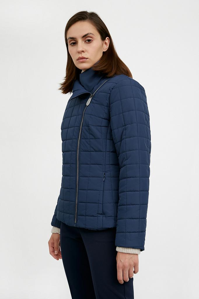 Фото 11 - Куртку женская темно-синего цвета