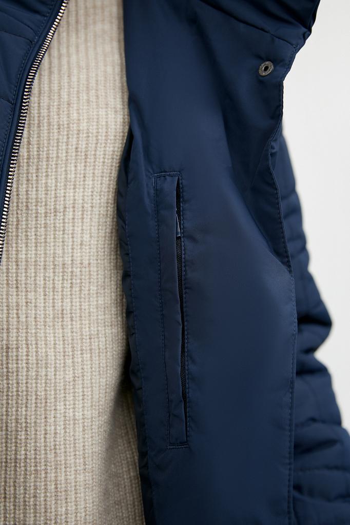 Фото 12 - Куртку женская темно-синего цвета