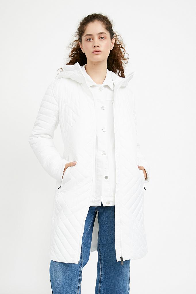 Фото 18 - Пальто женское белого цвета