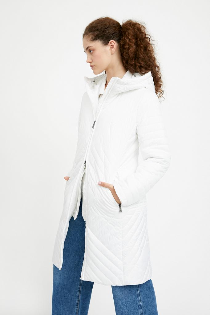 Фото 20 - Пальто женское белого цвета