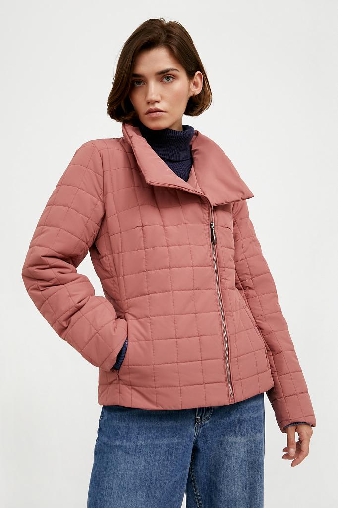 Фото 5 - Куртку женская темно-синего цвета