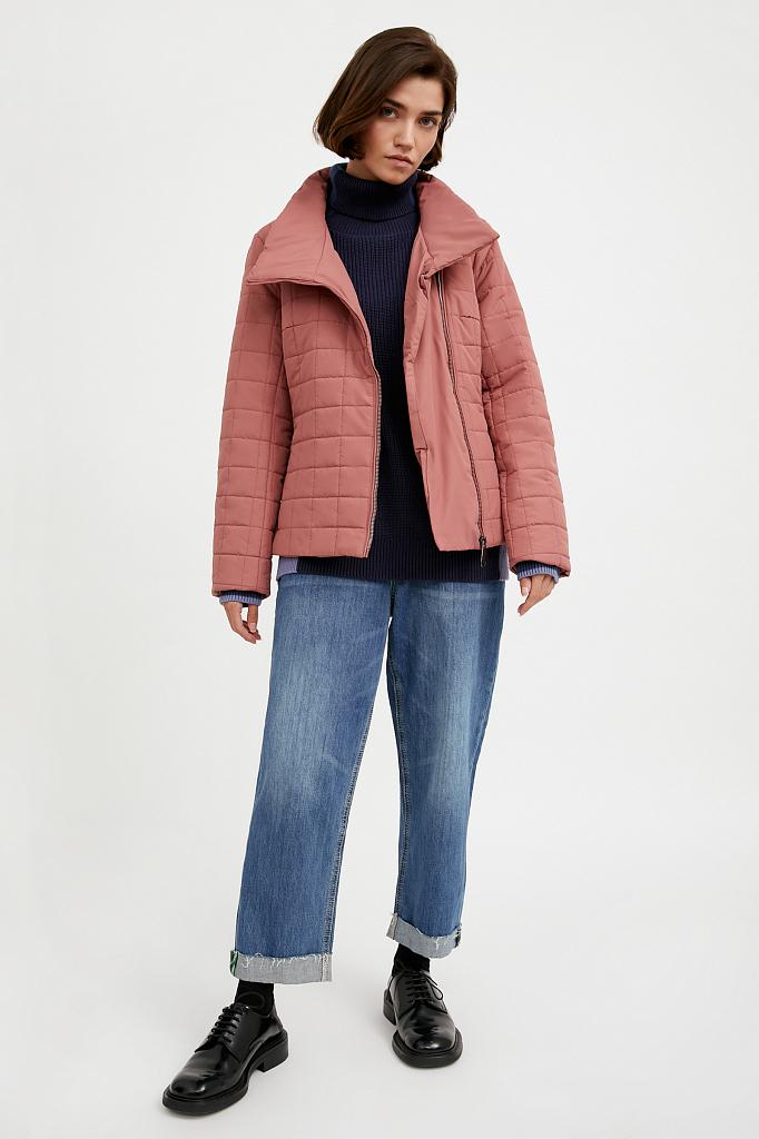 Фото 6 - Куртку женская темно-синего цвета
