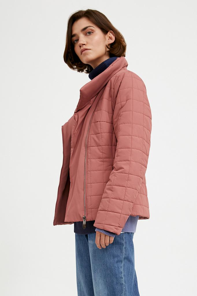Фото 7 - Куртку женская темно-синего цвета