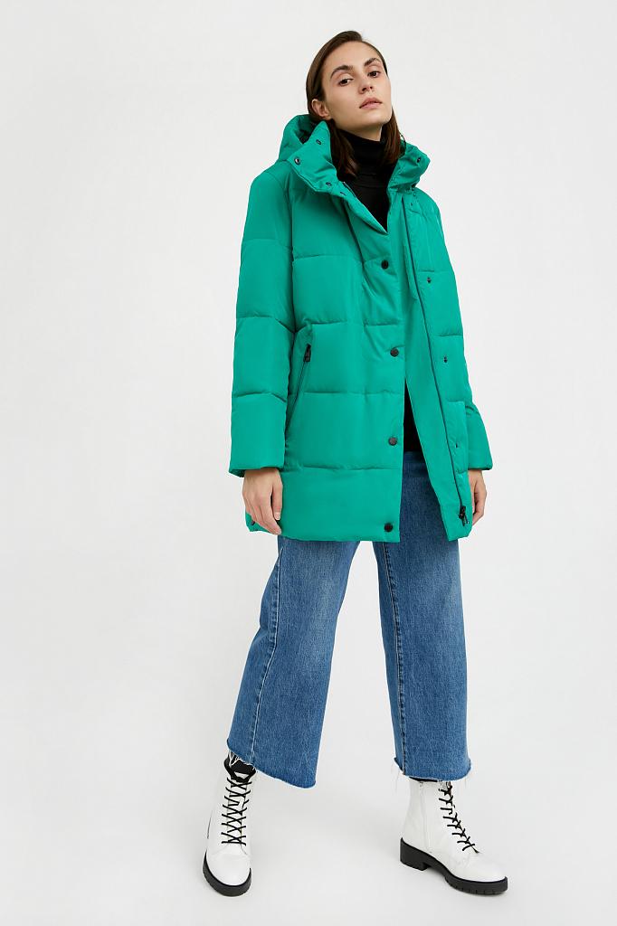 Фото 5 - Куртку женская цвет green