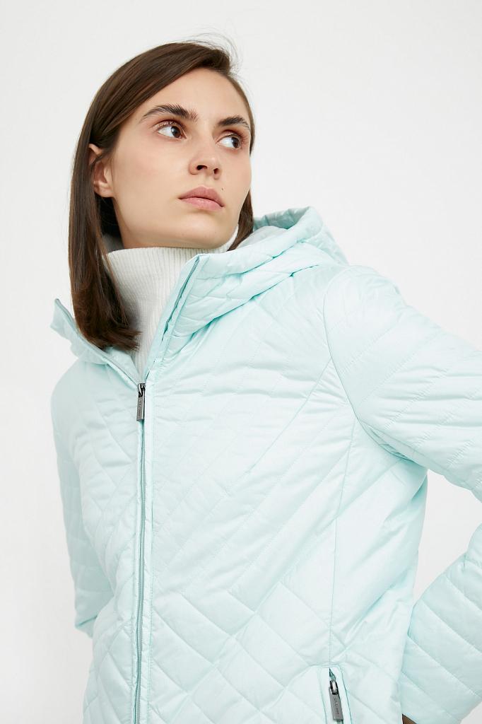 Фото 9 - Пальто женское белого цвета