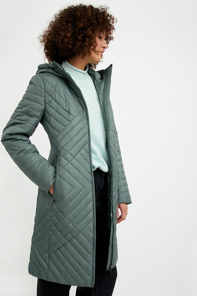 Фото 3 - Пальто женское белого цвета