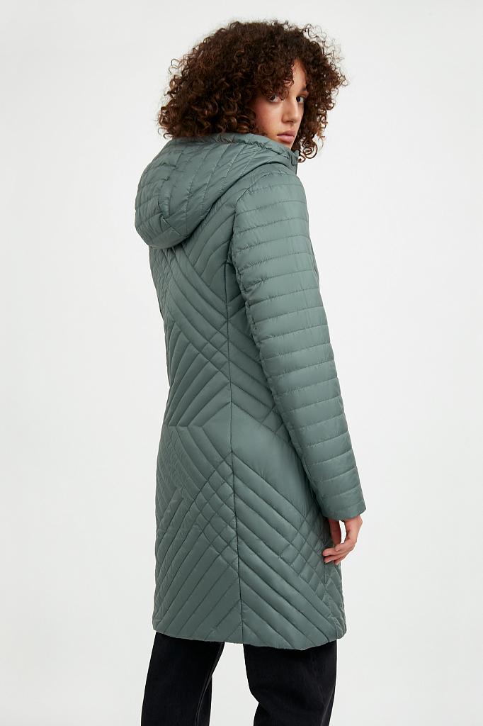 Фото 4 - Пальто женское белого цвета