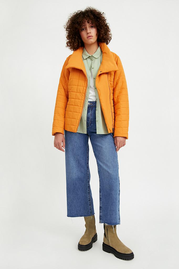 Фото 2 - Куртку женская темно-синего цвета