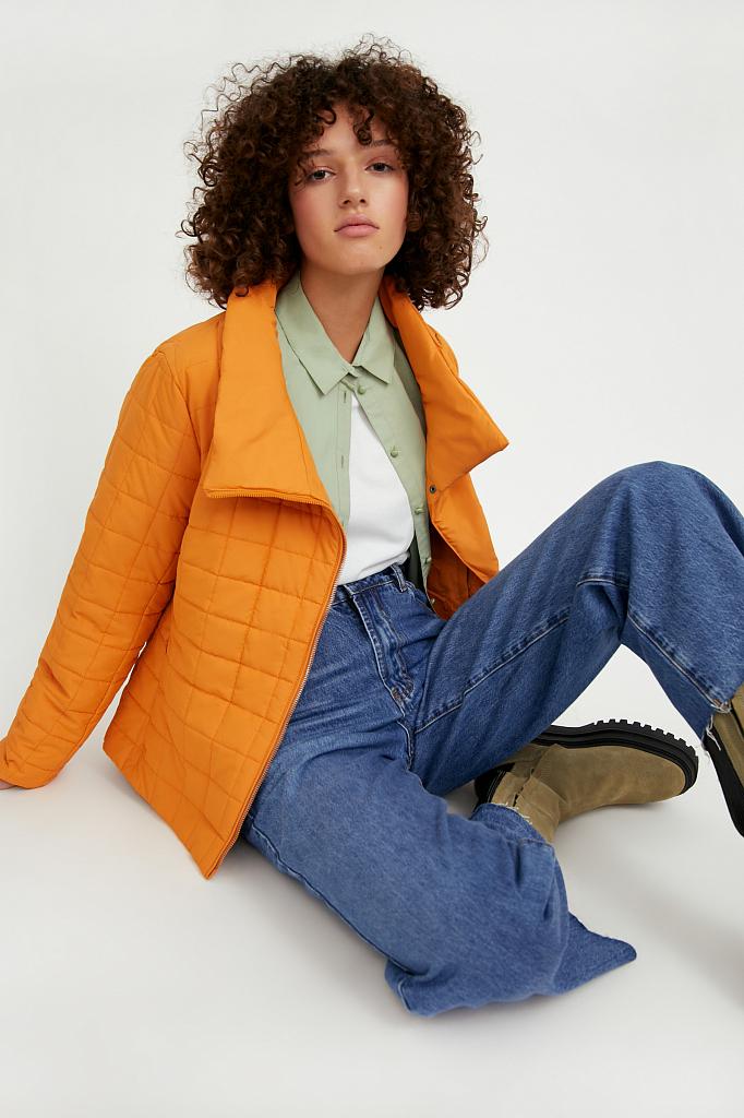 Фото 3 - Куртку женская темно-синего цвета