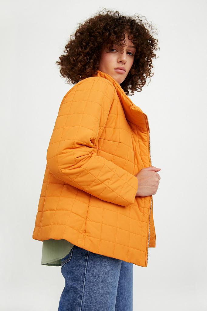 Фото 4 - Куртку женская темно-синего цвета
