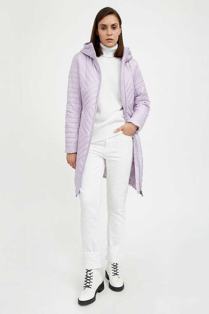 Фото 26 - Пальто женское белого цвета