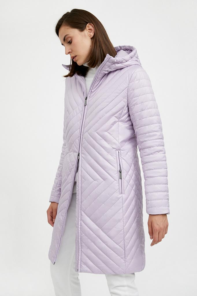 Фото 27 - Пальто женское белого цвета