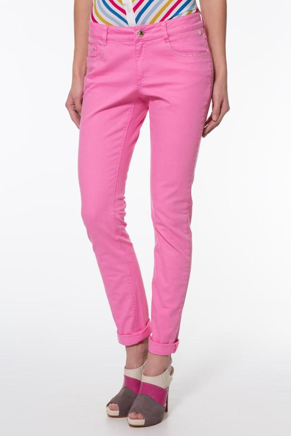 Фото 2 - Джинсы женские цвет neon pink
