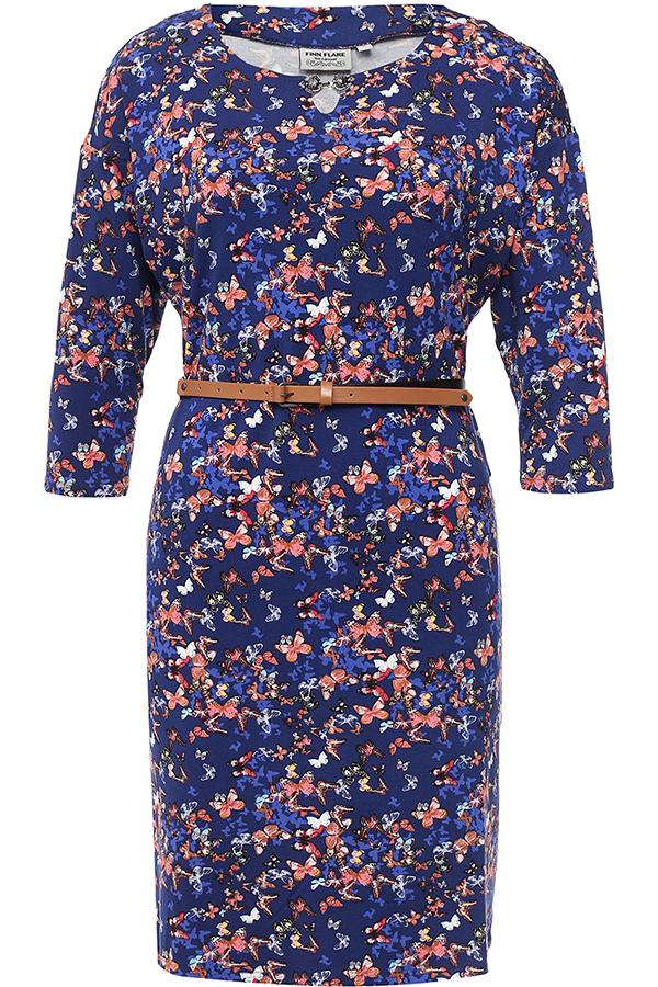 Фото 5 - Платье женское темно-синего цвета