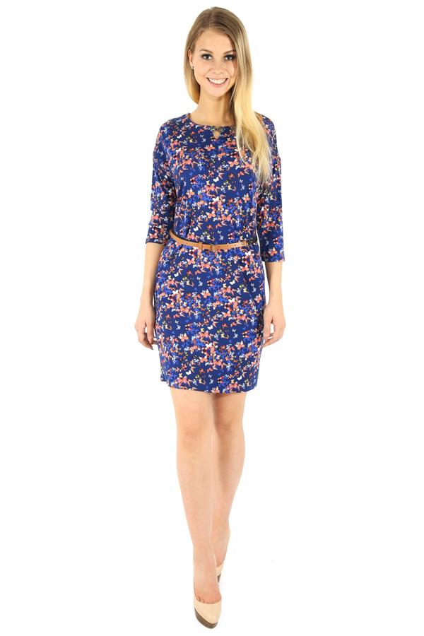 Фото 6 - Платье женское темно-синего цвета
