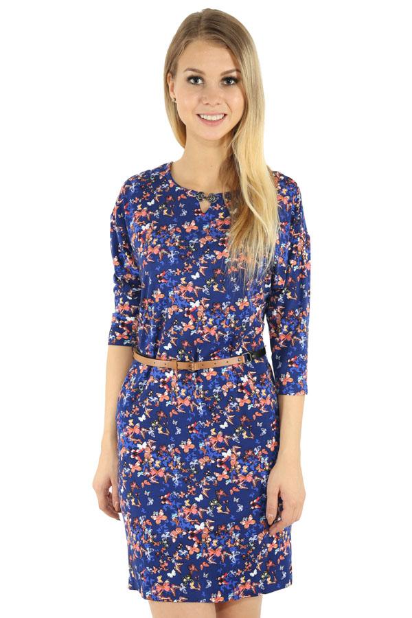 Фото 7 - Платье женское темно-синего цвета