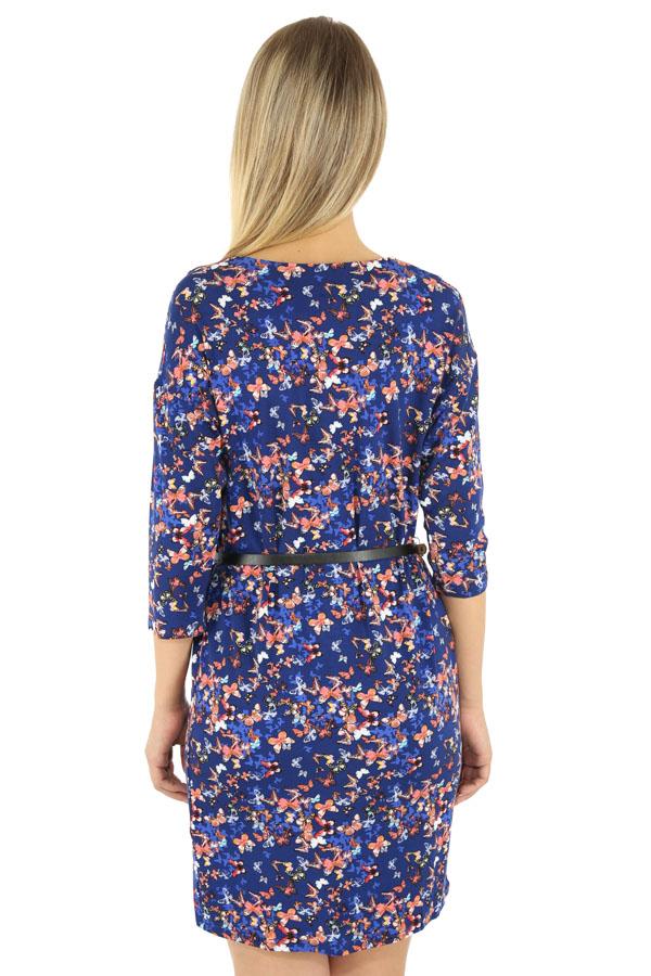 Фото 8 - Платье женское темно-синего цвета