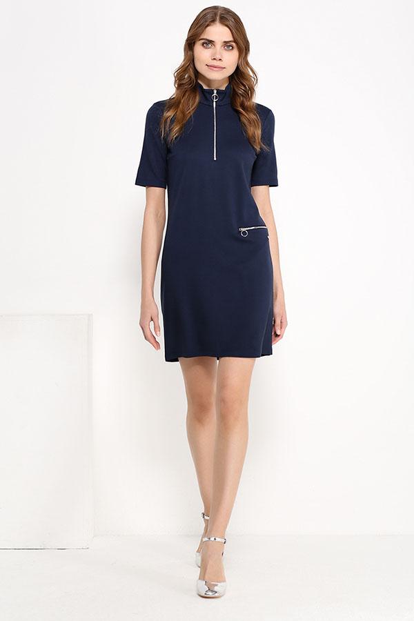 Фото 6 - Платье женское сливового цвета