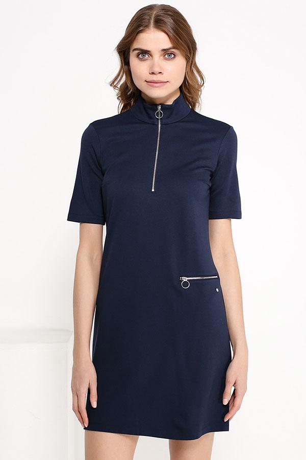 Фото 7 - Платье женское сливового цвета