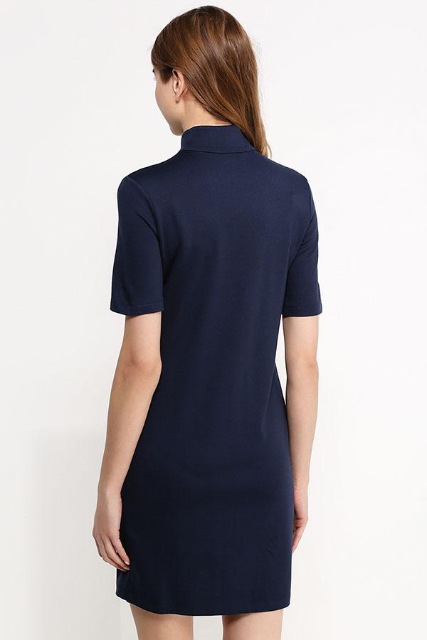 Фото 8 - Платье женское сливового цвета