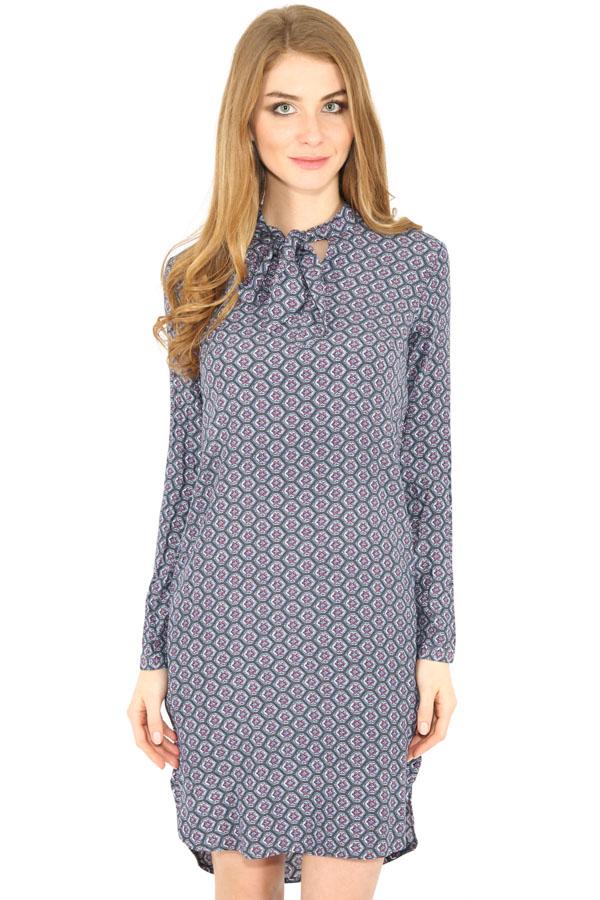 Фото 7 - Платье женское серого цвета