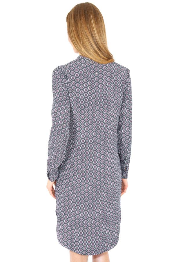 Фото 8 - Платье женское серого цвета