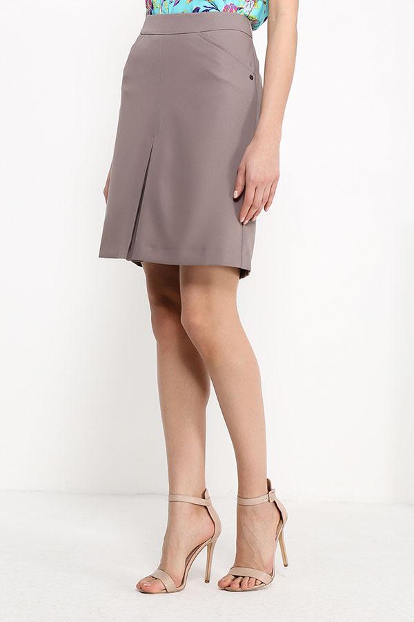 Фото 11 - Юбку женская коричневого цвета