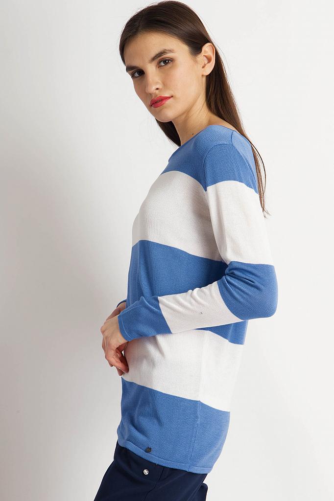 Фото 4 - Джемпер женский голубого цвета