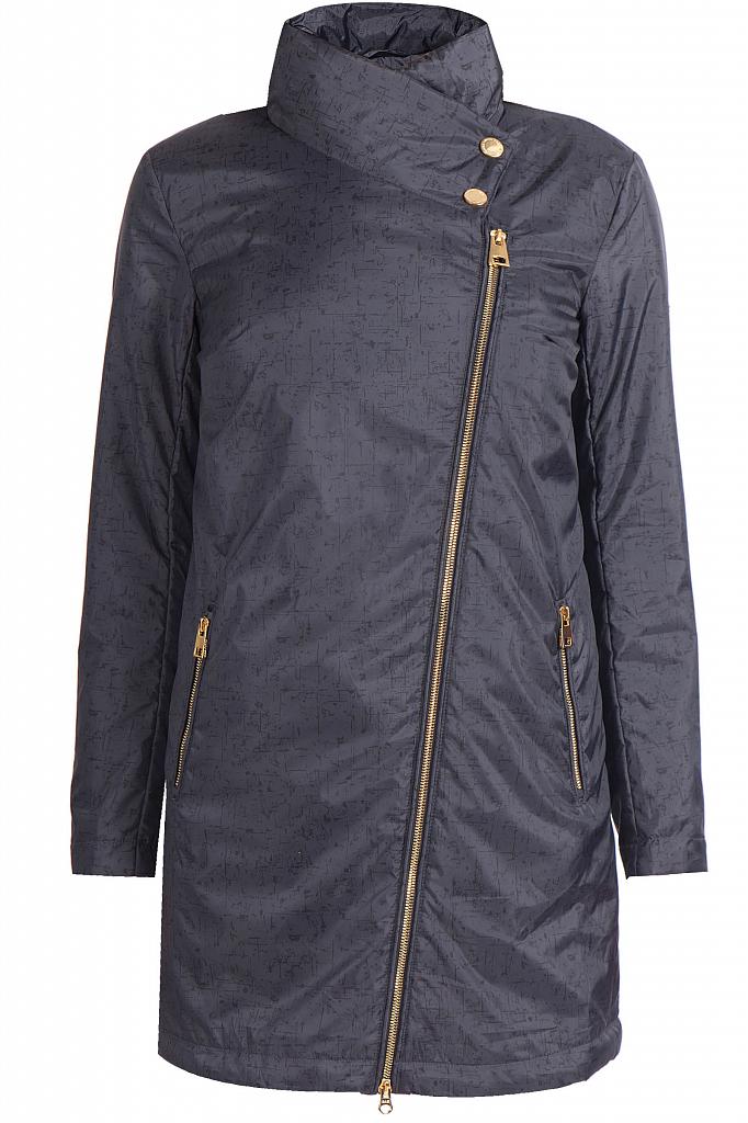 Фото 9 - Пальто женское темно-серого цвета