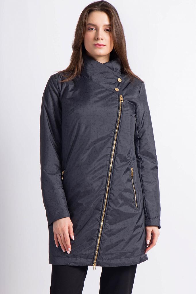 Фото 10 - Пальто женское темно-серого цвета