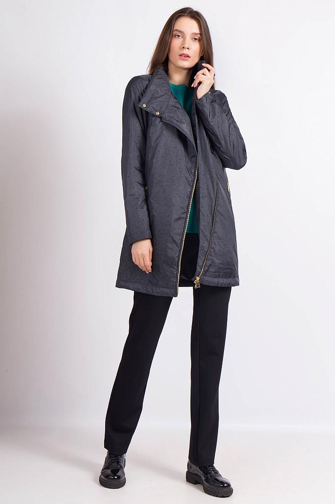 Фото 11 - Пальто женское темно-серого цвета