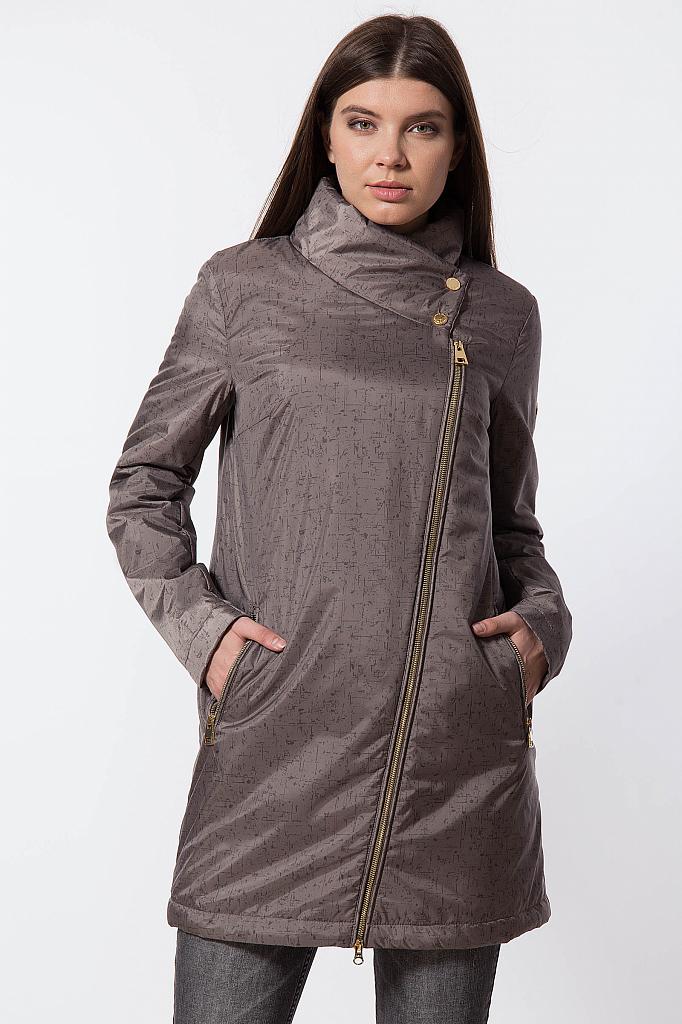 Фото 14 - Пальто женское темно-серого цвета