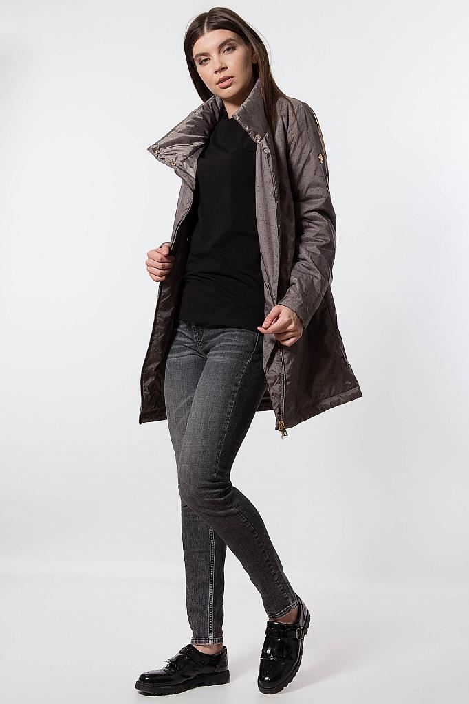 Фото 15 - Пальто женское темно-серого цвета