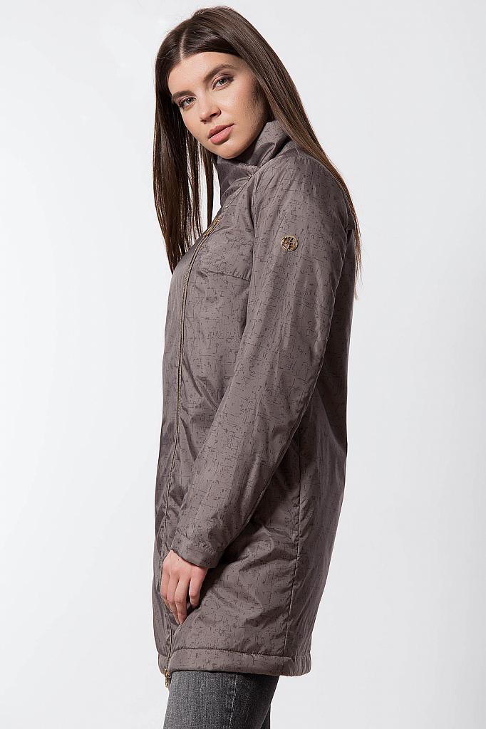 Фото 16 - Пальто женское темно-серого цвета