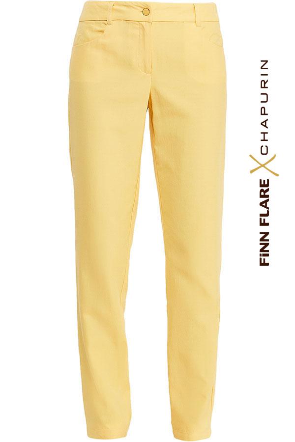 Фото 5 - Брюки женские желтого цвета